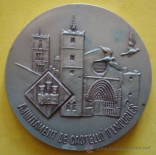 MEDALLA AJUNTAMIENTO DE CASTELLÓ D´EMPÚRIES 11 DE SETEMBRE 1986 (Numismática - Medallería - Temática)