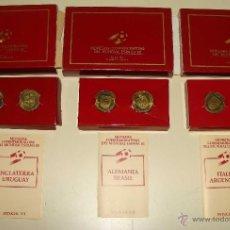 Medallas temáticas: COLECCIÓN COMPLETA. 6 MONEDAS CONMEMORATIVAS MUNDIAL ESPAÑA 82 1982 ITALIA ARGENTINA BRASIL ALEMANIA. Lote 40310597