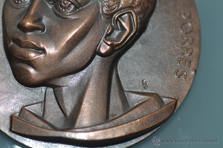 Medallas temáticas: SAN MARTIN DE PORRES MEDALLA POR FERNANDO DE JESUS EN BRONCE - Foto 3 - 40422444
