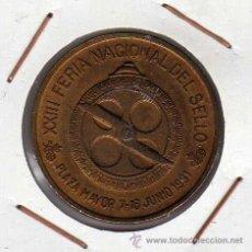 Medallas temáticas: MEDALLA ACUÑADA POR LA FNMT XXIII FERIA NACIONAL DEL SELLO MADRID 1991. Lote 40455429