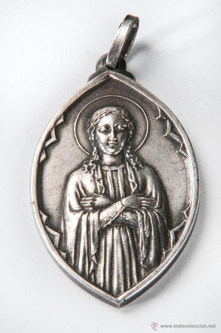 MEDALLA METAL, HIJAS MARIA PARROQUIA SANTA ANA, BARCELONA 1940 COMPRA MINIMA PARA ENVIAR 5 EUROS (Numismática - Medallería - Temática)
