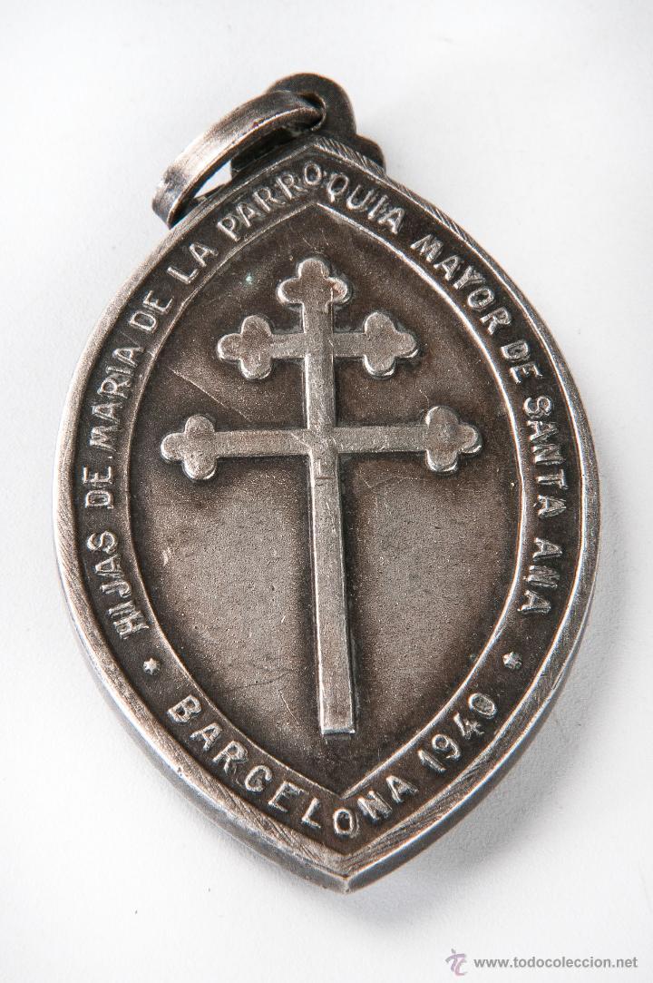 Medallas temáticas: MEDALLA METAL, HIJAS MARIA PARROQUIA SANTA ANA, BARCELONA 1940 COMPRA MINIMA PARA ENVIAR 5 EUROS - Foto 2 - 40550505