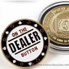 Medallas temáticas: MONEDA DE POKER COIN PRO - DEALER BUTTON - OFERTA. Lote 40826515
