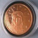 Medallas temáticas: MONEDA DE COBRE PURO U.S.A ESCUDO Y ESTATUA LIBERTAD GRANDE Y EN SU CAPSULA PROTECTORA COPPER COIN. Lote 50257173