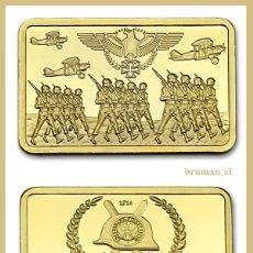Medallas temáticas: LINGOTE ORO ALEMANIA NAZI DEUTSCHE REICH 1914 EDICION LIMITADA DIFICIL DE CONSEGUIR. Lote 82275270