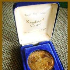 Medallas temáticas: ANTIGUA MEDALLA DE BRONCE - KENILWORTH CASTLE - BRONZE MEDAL ESCASA. Lote 40945785