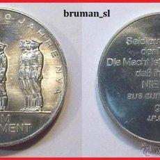 Medallas temáticas: MONEDA CONMEMORATIVA ALEMANIA DDR 1956-1986 30 AÑOS 1ER REGIMIENTO. Lote 40996478