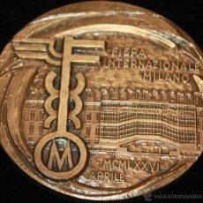Medallas temáticas: MEDALLA DE LA FERIA INTERNACIONAL DE MILAN 1976. Lote 41216805