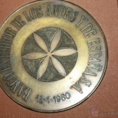 Medallas temáticas: MEDALLA DEL BANCO EXTERIOR DE ESPAÑA Y DE LOS ANDES 1980. Lote 41216928