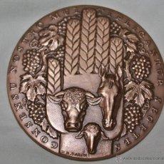 Medallas temáticas: MEDALLA CONMEMORATIVA DE CREDIT AGRICOLE MUTUEL BOURBONNAISE,8,1 CM. Lote 41381327