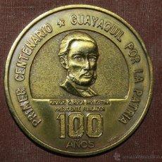 Medallas temáticas: MEDALLA CONMEMORATIVA DE LA CAMARA DE COMERCIO DE GUAYAQUIL. Lote 41381471