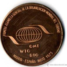 Medallas temáticas: MEDALLA ORGANIZACION MUNDIAL TURISMO 1.975 MADRID. Lote 41455737