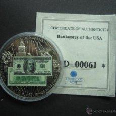 Medallas temáticas: MONEDA BILLETE 100$ BENJAMIN FRANKLIN SINCE 1928 / 1929 EDICION LIMITADA + CERTIFICADO. Lote 41597410