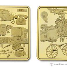 Medallas temáticas: LINGOTE ORO 24K ALEMANIA - GRANDES INVENTOS - EDICION LIMITADA Y NUMERADA DIFICIL DE CONSEGUIR. Lote 162132510
