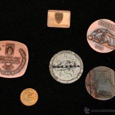 Medallas temáticas: LOTE 6 MEDALLONES BRONCE. Lote 41870909