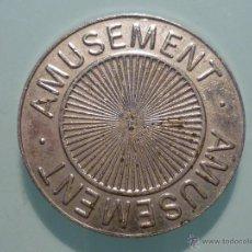 Medallas temáticas: MONEDA AMUSEMENT (DIVERSIÓN) MONEDA DE CASINO O PARQUE TEMÁTICO. Lote 41968995