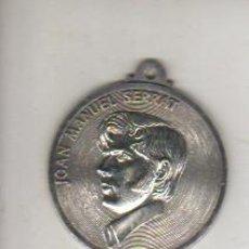 Medallas temáticas: MEDALLA DEL CANTANTE CATALÁN JOAN MAUNEL SERRAT. Lote 42073222