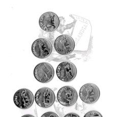 Medallas temáticas: GIGANTONES DE BURGOS. 13 MEDALLAS DE PLATA EKL COLECCION DE ARRAS, MONEDAS EN ESTUCHE. DIARIO B.. Lote 40712037