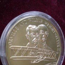 Medallas temáticas: MONEDA CONMEMORATIVA DE 5 DOLLARS PLATA DE ORVILLE AND WILBUR WRIGHT - FLYER II -. Lote 43259493