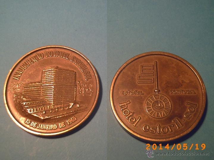 MEDALLA INAUGURAÇÂO DO HOTEL ESTORIL-SOL -PORTUGAL - 15 JANEIRO 1965 - EN BRONCE- (Numismática - Medallería - Temática)