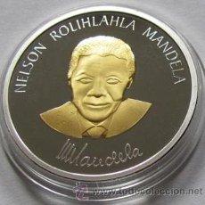 Medallas temáticas: MONEDA ORO PLATA NELSON MANDELA 1964 - 1982 A LONG WALK TO FREEDOM. Lote 58525568