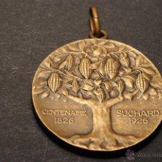 Medallas temáticas: MEDALLA DE BRONCE EN RELIEVE CENTENARIO SUCHARD 1926. Lote 43549311