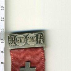 Medallas temáticas: PRECIOSA MEDALLA CIVIL O MILITAR SUIZA CON PASADOR O PRENDEDOR. Lote 43635447