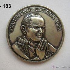 Medallas temáticas: MEDALLA DE LA VISITA A ESPAÑA DE JUAN PABLO II Y IV CENTENARIO DE STA. TERESA DE JESÚS. ENVÍO GRATIS. Lote 43719619