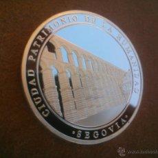 Medallas temáticas: MONEDA PLATA ALCAZAR DE SEGOVIA CIUDAD PATRIMONIO DE LA HUMANIDAD. Lote 49512875