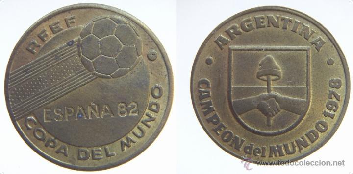 MUNDIAL ESPAÑA 82 ARGENTINA (Numismática - Medallería - Temática)