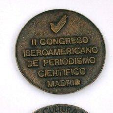 Medallas temáticas: MEDALLA DEL II CONGRESO IBEROAMERICANO DE PERIODISMO CIENTÍFICO. MADRID. 1977. Lote 44246809
