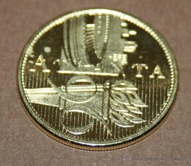 MEDALLA CONMEMORATIVA JUEGOS OLÍMPICOS ATLANTA 96 - 1996 (Numismática - Medallería - Temática)