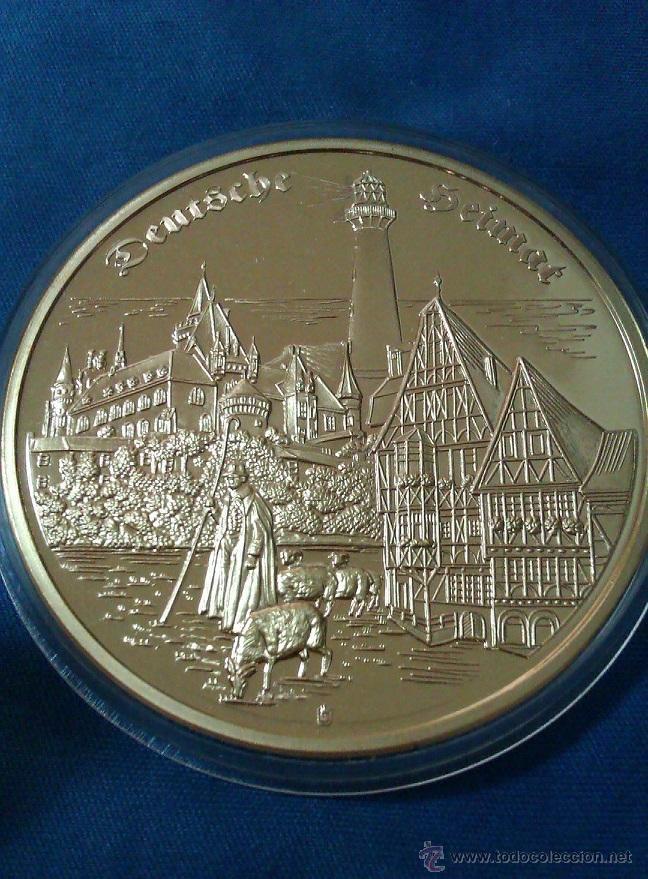 Medallas temáticas: GRAN MONEDA ORO DE LA CATEDRAL DE COLONIA ALEMANIA FIRMADA EDICION LIMITADA 55 MM DE DIAMETRO - Foto 2 - 44923695