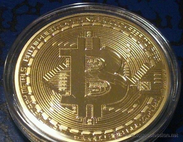 MONEDA ORO 24KT U.S.A BITCOIN CALIDAD PROOF EN SU CAPSULA PROTECTORA (Numismática - Medallería - Temática)