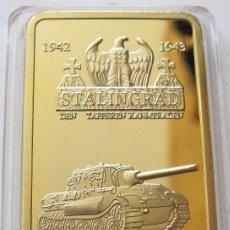 Medallas temáticas: LINGOTE ORO 24K ALEMANIA WWII STALINGRADO EDICION LIMITADA DIFICIL DE CONSEGUIR. Lote 102570774