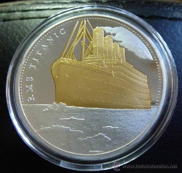 PRECIOSA MONEDA CONMEMORATIVA DEL VIAJE DEL TITANIC (Numismática - Medallería - Temática)