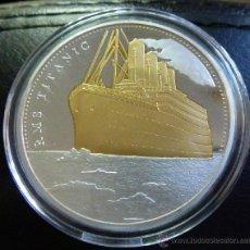 Medallas temáticas: PRECIOSA MONEDA CONMEMORATIVA DEL VIAJE DEL TITANIC. Lote 122333036