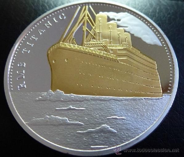 Medallas temáticas: PRECIOSA MONEDA CONMEMORATIVA DEL VIAJE DEL TITANIC - Foto 2 - 122333036