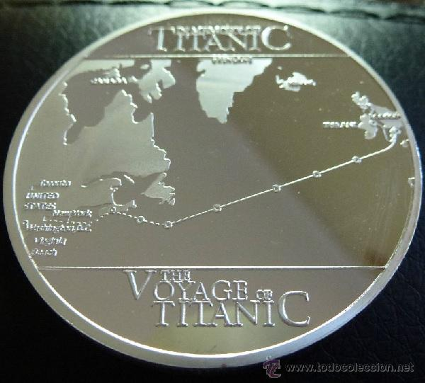 Medallas temáticas: PRECIOSA MONEDA CONMEMORATIVA DEL VIAJE DEL TITANIC - Foto 3 - 122333036