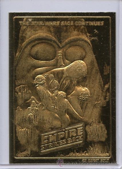 LINGOTE CARTA DE ORO 23KT STAR WARS EMPIRE EDICION LIMITADA Y NUMERADA (Numismática - Medallería - Temática)