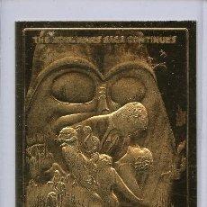 Medallas temáticas: LINGOTE CARTA DE ORO 23KT STAR WARS EMPIRE EDICION LIMITADA Y NUMERADA. Lote 160917365