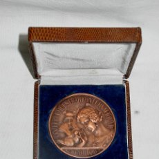 Medallas temáticas: MEDALLA XXV FERIA MUESTRARIO INTERNACIONAL VALENCIA BODAS DE PLATA 1917-1947 - CAJA ORIGINAL. Lote 45361038