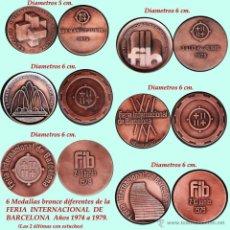 Medallas temáticas: LOTE DE 6 MEDALLAS BRONCE DE 1974, 75, 76, 77, 78 Y 1979 DE LA FERIA INTERNACIONAL DE MUESTRAS BARNA. Lote 45424812