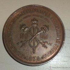 Medallas temáticas: MEDALLA. NODO. EXPOSICION BETICO-EXTREMEÑA EN EL ALCAZAR DE SEVILLA. 1874. VER. Lote 45604317