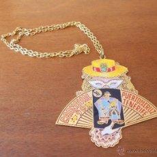 Medallas temáticas: MEDALLA METÁLICA DEL CARNAVAL, PUERTO DE LA CRUZ, TENERIFE 1990 9 X 9 CM.. Lote 45650344