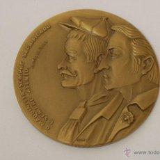 Medallas temáticas: MEDALLA CONMEMORATIVA DE LOS FERROCARRILES PORTUGUESES. 1875-1975. POVOA DE VARZIM. BOAVISTA. PORTO.. Lote 45945874