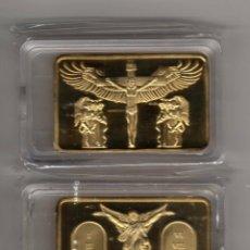 Medallas temáticas: LINGOTE CON ORO DE 24 KTES. CRISTO LIQUIDACION. Lote 111822422