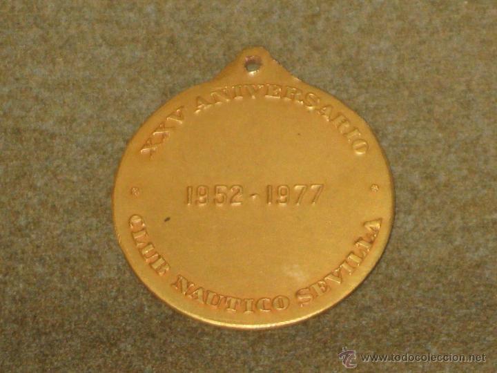 Medallas temáticas: MEDALLA CONMEMORATIVA DEL XXV ANIVERSARIO DEL CLUB NAUTICO DE SEVILLA - MIDE - 4 CMS - Foto 2 - 46045840