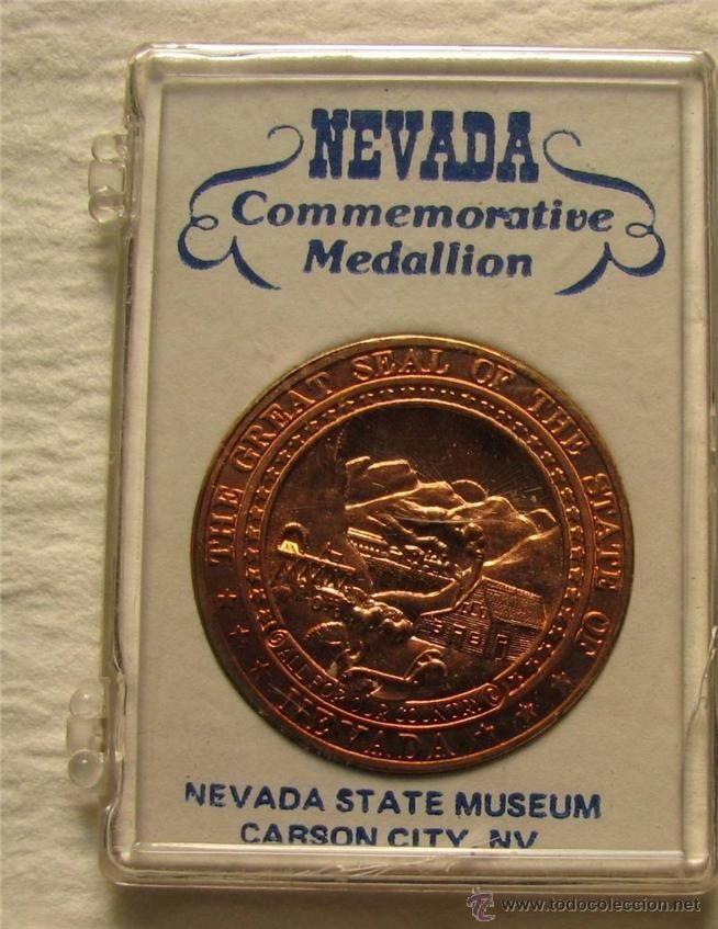 PRECIOSA MONEDA MEDALLA CONMEMORATIVA DEL MUSEO ESTATAL DE NEVADA USA ESTADOS UNIDOS EN SU BLISTER (Numismática - Medallería - Temática)