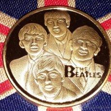Medallas temáticas: MONEDA DE LOS BEATLES ORO 24KT - THE BEATLES - RINGO JOHN GEORGE Y PAUL GOLD COIN. Lote 53492187